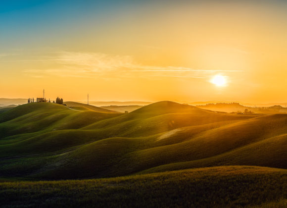 Toskana – Asciano Hügel Panorama