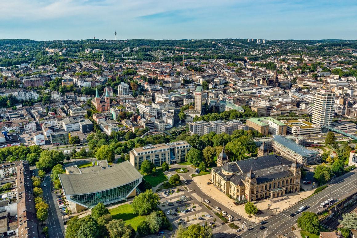 Wuppertal Luftaufnahme Zentrum Elberfeld