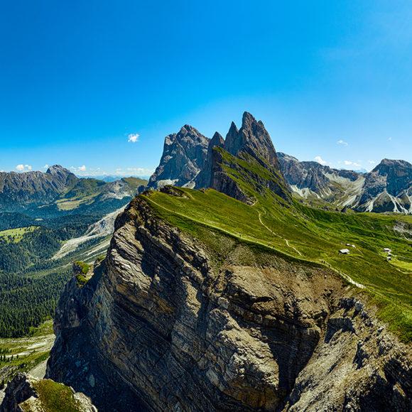Seceda Dolomiten in Südtirol, Italien