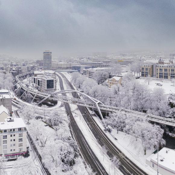 Schnee in Wuppertal Elberfeld, Januar 2021